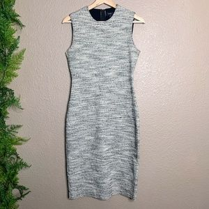 Theory Eano Branson Sheath Dress Textured Tweed S